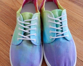 Rainbow tie dye shoes US mens size 8