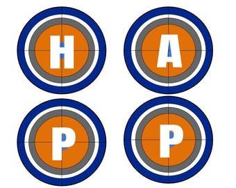 Nerf Happy Birthday Banner