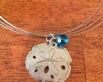 Sand Dollar / Summer / Beach / Charm Necklace / 6.5 inch