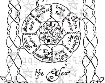 Print your own- Wheel of the Year