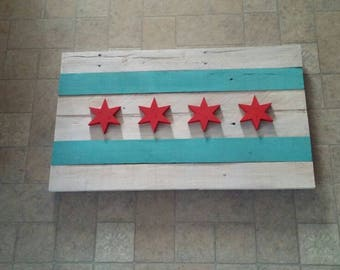 Chicago Flag Wall Art