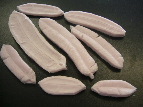 Cake Decorating Moulds Nz : Australian Made Fondant MOld Co. Feathers, 4 sets, 8 molds ...