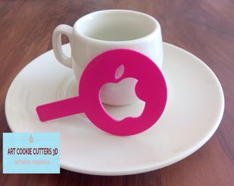 Template to decorate coffee, chocolate, muffins or desserts in general.
