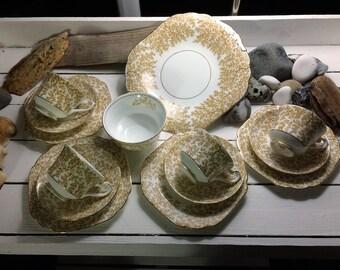 Vintage Swansea bone china teaset