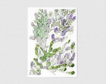 Lavender Blank Greeting Card