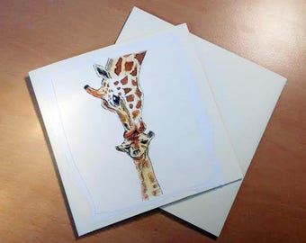 Giraffe | Cute Card | Mother's Day | Handmade Card