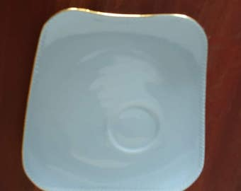"Australian made, fine china, ""WESTMINSTER"" replacement tennis set plate in LIGHT BLUE"