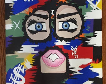 Bank Robber Abstract Canvas