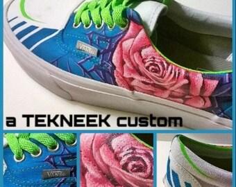 Shattered Rose custom sneakers