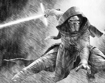 Star Wars - Kylo Ren Print