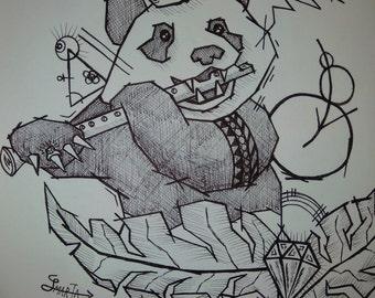 King Panda and his Bamboo Flute