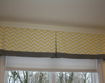 Box Pleated Valance with contrast band