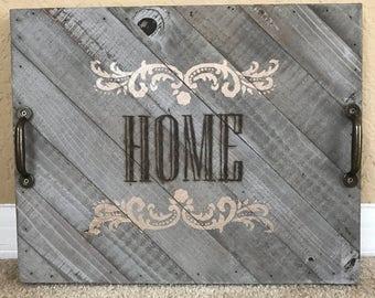 Custom Text Wood Burned Tray