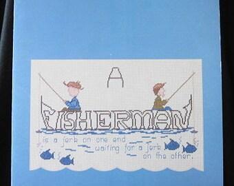 Fisherman Cross Stitch Booklet