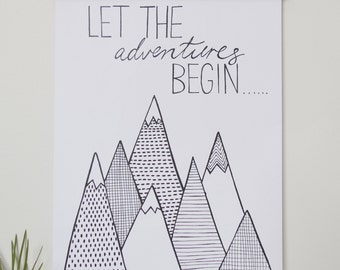 Print - Let the adventure begin