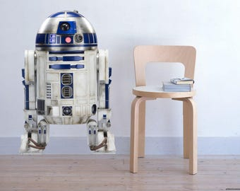 R2 D2 Droid robot Star Wars R2D2 R2-D2 color Wall Decal Sticker Living Childrens Kids Room  60