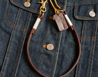 Leather wallet chain,Wallet,Man Wallet,vegtan leather