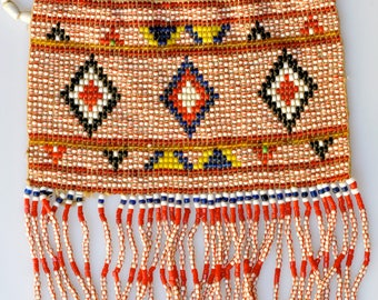 Vintage Fulani Beaded Ornament from Mali, West Africa - BW356