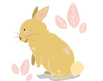 Vector rabbit - Digital Illustration // little animals collection