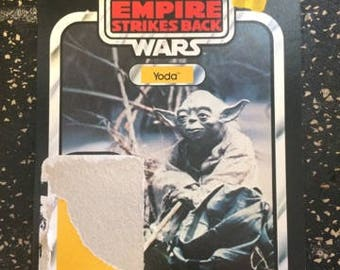 Star Wars - Yoda Backer Card by Kenner