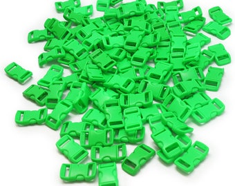 100 Neon green Paracord buckles