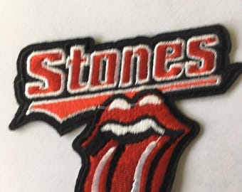 Rollong Stones Tongue Embroidered Patch  Iron Or Sew