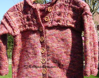 Girls Knitted Cardigan, Girls Colourful Cardigan, Girls Colourful Sweater, Girls Knitted Hoodie, Girls Cardigan with Hood, Handknit Hoodie