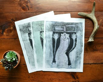 Exquisite Corpse // Artist Proof Collagraph Print