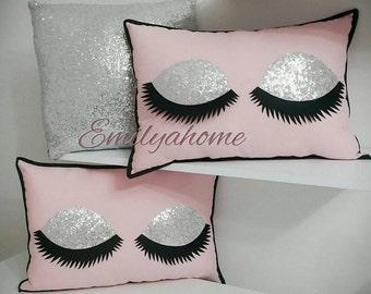Decorative Eyelash Pillows