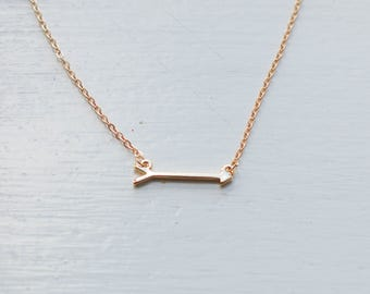 Short Arrow Necklace