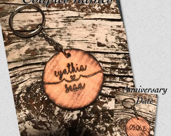Personalized Couple Names Ribon Heart & Date