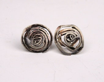 ROSES flowers earrings