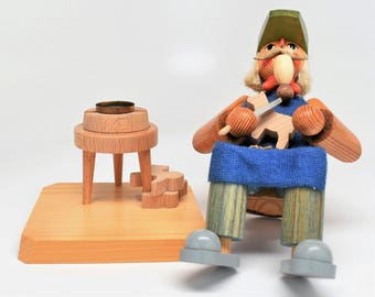 TOY WOOD CARVER Smoker ~ Incense Burners ~ Volkskunst ~ Echt Handarbeit Incense Burners ~ Volkskunst Incense Burners ~ Echt Incense Burners