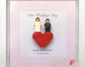 Personalised Lego wedding picture frame