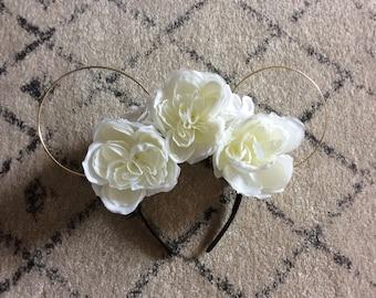Bridal inspired Disney floral headband