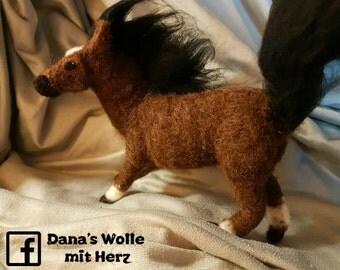 Shetland Shetland pony needle felt pony Needlefelting