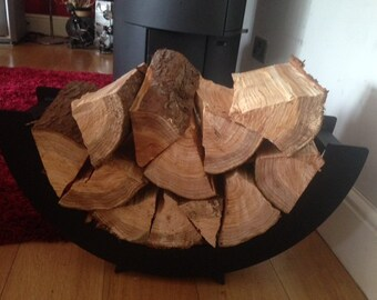 Log Tray, Steel, Hand Crafted