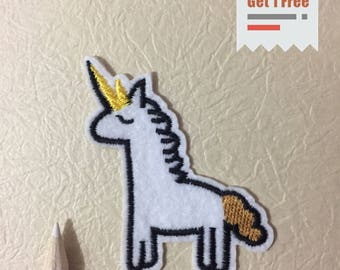 Unicorn Iron on Patch, Unicorn Embroidered Patch- Size 3.23''W X 2.17'' H