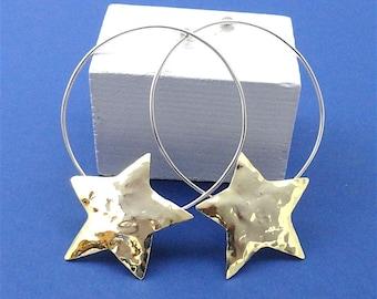 Silver earrings,siver stars