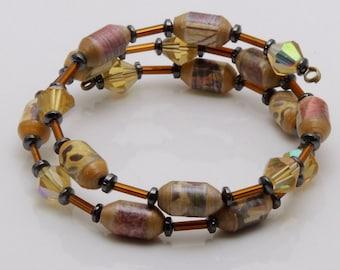 Delightful Dream (Upcycled Paper Bead Bracelet/SB0036)
