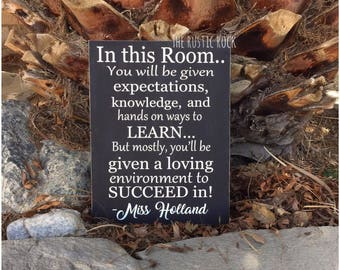 Teacher Gift Classroom Sign