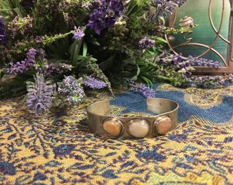 Semi-precious Stone Cuff Bracelet