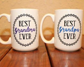 Mug set, Best Grandma/Best Grandpa Ever