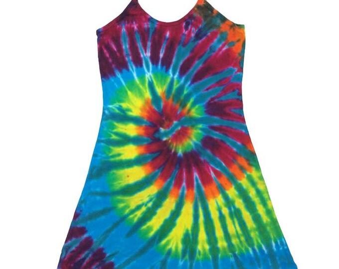 Tie Dye Dress - Spiral Aqua