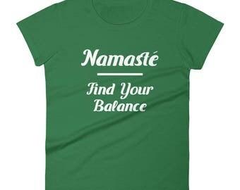 Namaste Find Your Balance Women's Yoga Shirt