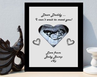 Personalised Pregnancy Baby Bump Scan Framed Print