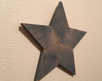 Hanging Star - Reclaimed Wood
