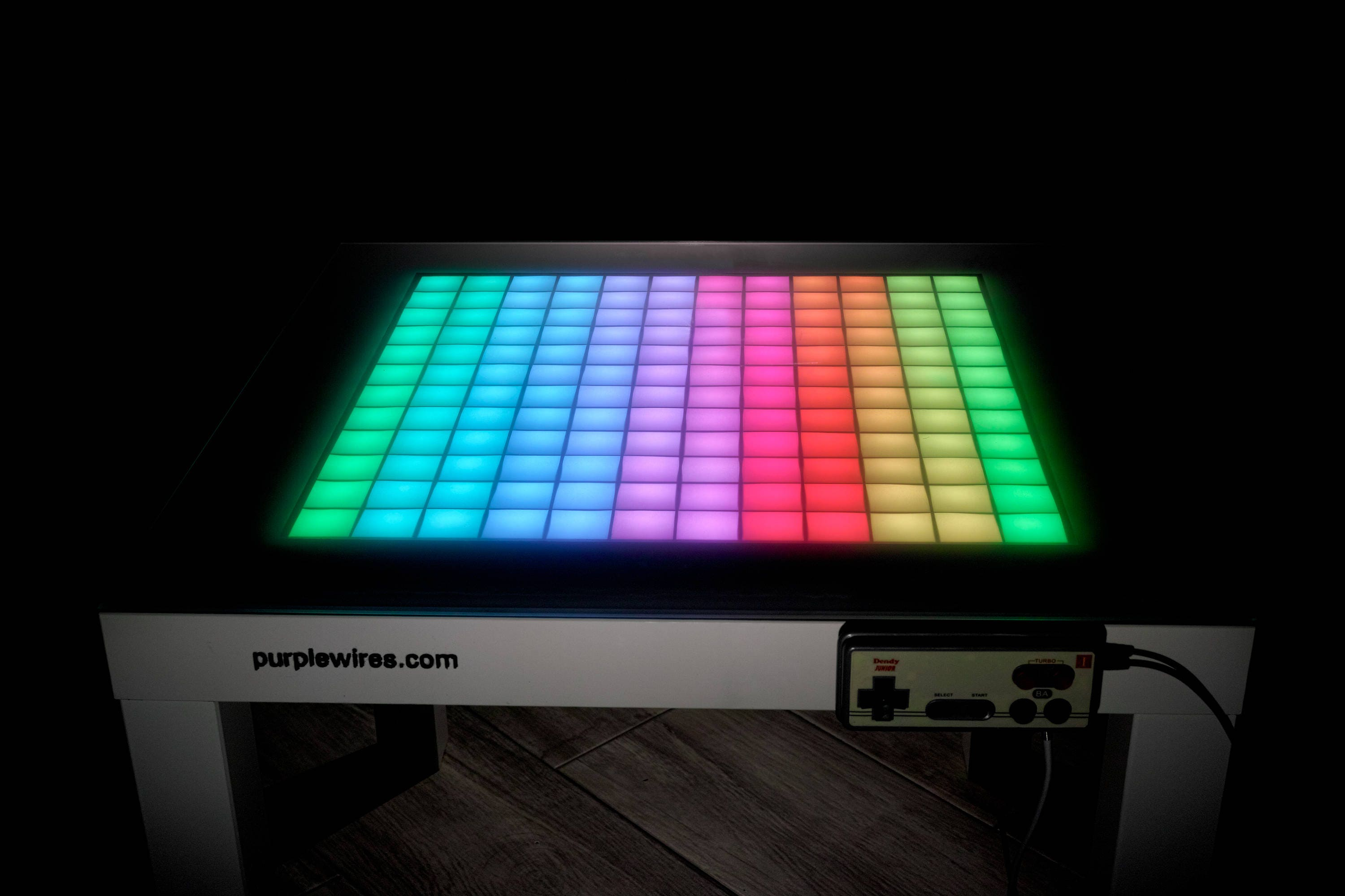 Led tetris table retro game console interactive table tetris game console led pixel table retro gaming 80s electronics game nintendo geotapseo Gallery