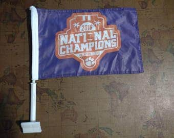 Free Shipping - Clemson National Championship Car Flag