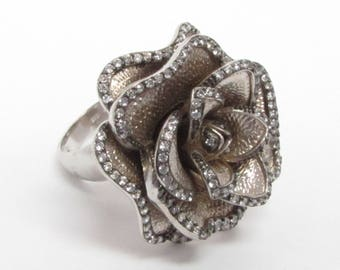 Unique 925 Sterling Silver Vintage Antique Topaz Cluster Ring - B067 (!!!OFFERS ACCEPTED!!!)